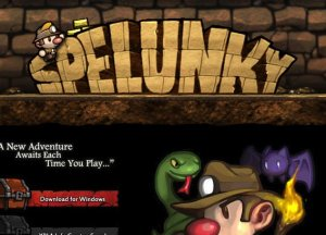 Snapshot from Spelunky website.